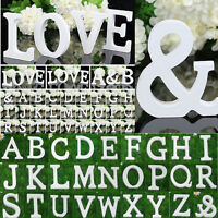 Wooden Letters Alphabet Freestanding Wedding Party Home Nursery Shop Sign Decor
