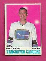 1970-71 OPC  # 119 VANCOUVER CANUCKS MARC REAUME EX+ CARD (INV# C8939)