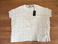 $189 NWT Maison Scotch Scotch Soda Cream Chunky Knit Poncho Style sweater S/ XS
