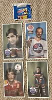 1973-74 Hockey OPC WHA Posters Wrapper Lot Of 4 + Wrapper