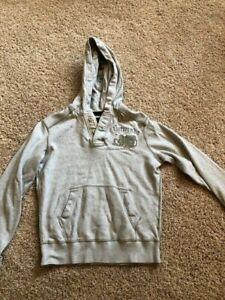 Gray abercrombie Sweat Shirt Hoody - EUC - Size Large