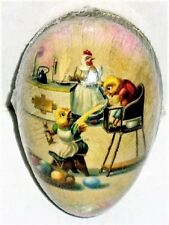 """Vintage Easter Egg (6""""x4) Unruly Chick Paper Mache Egg Mint! Made in Germany"""