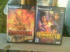 Romance of the Three Kingdoms VII& VIII (Playstation 2) 7& 8 ps2 COMPLETE RARE