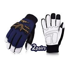 Vgo 12pairs 3m Winter Goatskin Leather Water Repellent Work Gloves Ga2458fw