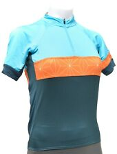 Rapha Race to the Sun Short Sleeve Cycling Jersey Men XS Blue Orange Road Bike