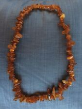 """Vintage 24"""" natural Baltic amber beads necklace unpolished natural raw 50 grams"""