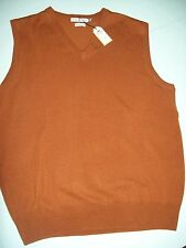 Peter Millar Merino Wool V-neck Sweater Vest NWT Small $129.50 Rust