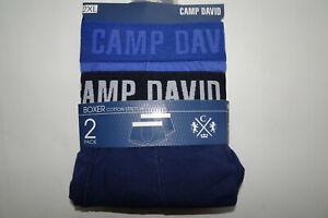 CAMP DAVID 2er Pack Boxershorts Herren-Pants blau Größe M L XL 2XL XXL