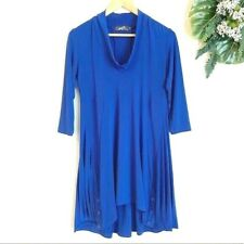 SYMPLI the BEST of Canada Blue Dress Tunic Top Lantern Bottom Size 8 WOW!