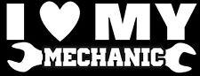"""I LOVE My Mechanic"" Decal Sticker.Trucker,Wife,Big Rig,Hauler,Race,10-4"
