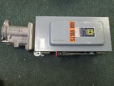 Square D Fusible Safety Switch H362AWC 60A 600V 3P Nema 12 Enclosure Used