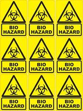 18 X Biohazard Stickers 50mm X 70mm Warning & Safety Signs