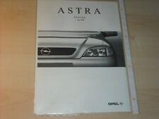 16137) Opel Astra Preise & Extra Prospekt 05/98