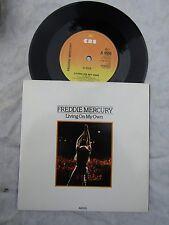 FREDDIE MERCURY LIVING ON MY OWN / MY LOVE IS DANGEROUS cbs A6555 n/m