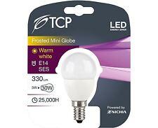 3Pack TCP 5W E14 lampadina LED Palla Da Golf/Mini Sfera 330lm ~30W-40W