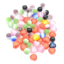 Assorted Multicolor Cats Eye Beads For Jewelry Crafting Set Of 66