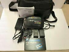 Panasonic Pv-L551D 150X Digital 20X Optical Zoom Vhs-C Palmcorder w/Case Works