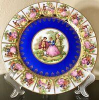 """Vintage Tirschenreuth JGEHA Germany Fragonard Signed Charger Cabinet Plate 11"""""""