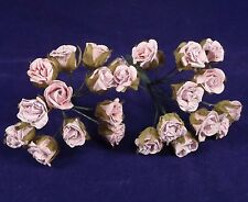 Rose Buds Small Parchment Light Pink Wedding Bridal Wreaths Catering Crafts Hats