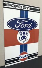Ford GT Gulf V8 Racing Vintage Reproduction Garage Sign