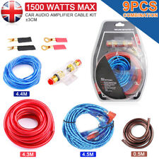 1500W 10 GAUGE Cable Car Audio Kit Amp Amplifier RCA Sub Woofer Wiring Wire UK