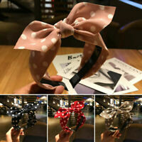 Women's Bow Hairband Big Bowknot Headband Dot Wide Hair Hoop Band Accessories/
