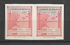 BOLIVIA Sc C100 PAIR IMPERFORATE MINT NH SIGNE VF