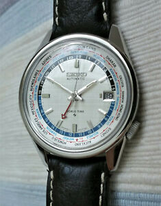 Vintage Seiko World Time automatic men's watch in steel, 6117 - 6010, excellent
