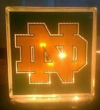 Lighted Notre Dame Glass Block Light~ Home Decor~Gift~Lamp