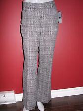 WORTHINGTON Women's Black Melange Plaid Modern Fit Pant - Size 14P - NWT