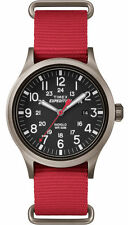 """Timex TW4B04500, Men's """"Expedition"""" Red Nylon Watch, Scout, TW4B045009J"""
