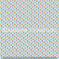 cupcakes printed canvas fabric A4 sheet hair bow making design craft material
