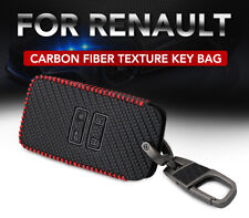 Car Leather Wallet Key Cover Fob Surface Key Chain Protector For Renault Megane
