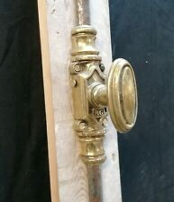 More details for a reclaimed antique brass and cast iron espagnolette bolt for french doors m1547