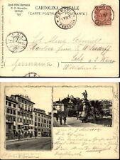 GENOVA Genua 1908 Cartolina Italiana Italien Italy Vintage Postcard nach Lehe