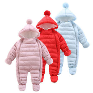 Snow Proof Baby Ski Snow Suit All-In-One Thick Polar Fleece Blue Snowsuit AU1&2