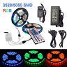 5M 10M RGB 600 LED Strip Light 3528 5050 String Waterproof +44Key IR +12V Power