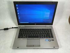 """HP EliteBook 8460p 14"""" Laptop Intel i7-2620M 2.7GHz 4GB 160GB Win10 - READ -RR"""