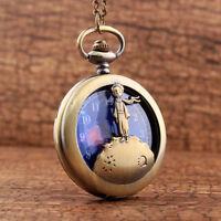 Orologio quarzo tasca taschino tascabile catena PICCOLO PRINCIPE idea regalo