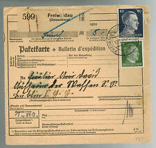 1941 Freiwaldau Germany Parcel Receipt Cover to Lublin Concentration Camp Ghetto