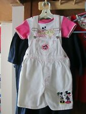 1990's vintage Mickey Mouse & Co. Girls Bib Shorts & Tee -size 6X tall-Nice!