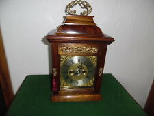 victorian strinking double fusee bracket clock with alarm