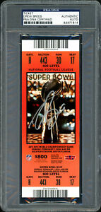 Drew Brees Autographed Signed Super Bowl XLIV Ticket Saints PSA/DNA 83971814