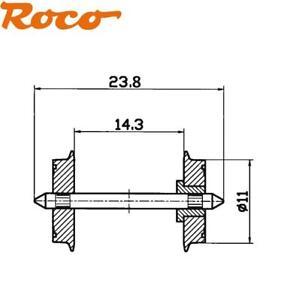 Roco H0 40182-S DC Norm-Radsatz isoliert 11 mm, Achslänge 23,8 mm (10 Stück) NEU