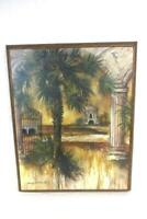 Sherry Strickland Gateway Of Palms Wall Art Wood Framed Canvas