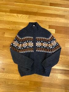 Zara Boys Gray Zip Front Cardigan Jacket Size 11 12 Sweater