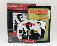 Max Payne PS2 Complete CIB Tested Sony PlayStation 2 Ps2 Game Good Greatest Hits