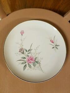 Golden Rose Fine China MSI Japan Pink Roses Gold Trim Set of 2 Dinner Plates