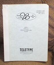 Teletype Model 28 Bulletin 1180B - Vol 3 of 3 Parts -Universal Torn Tape System