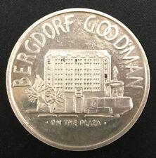 Exonumia Bergdorf Goodman $25 redemption .999.5 fine silver on edge